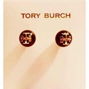 Tory Burch Black Pearl Stud Earrings